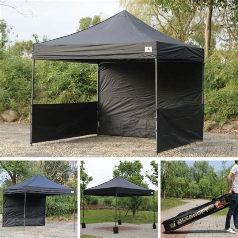 Black Canopy Abccanopy 10x10 Deluxe Black Pop Up Canopy Trade Show Both