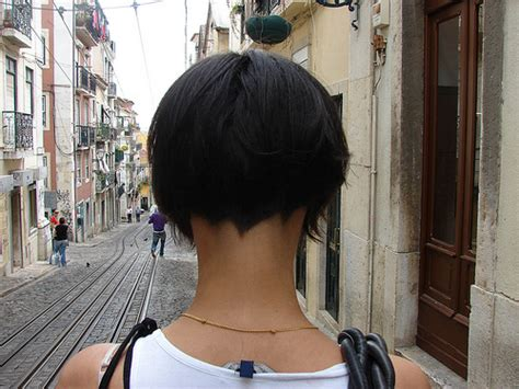 short stack cut in the nap of the back back hair obsessed bob haircut shaved nape of neck back view