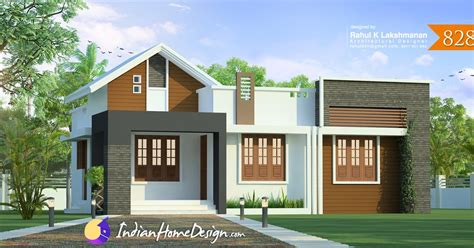 Free Home Design No by Kerala Home Design 828 Sq Ft 2 Bedroom Low Cost Plan