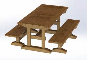 8ft trestle style picnic table with benches plans easy to build 6 99 picclick