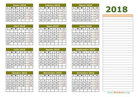 Calendario Vacaciones 2018 Calendario De Vacaciones 2018 M 225 S De 100 Plantillas Para