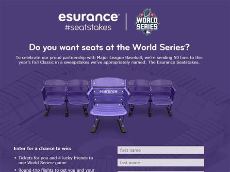 World Series Car Giveaway - the mlb world series esurance seatstakes sweepstakes sweepstakes fanatics
