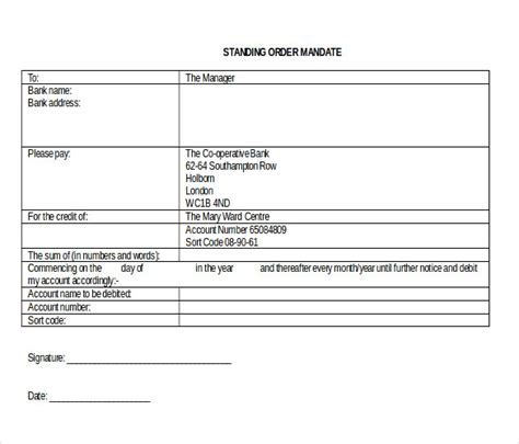 standing order form template 28 blank order templates free sle exle format