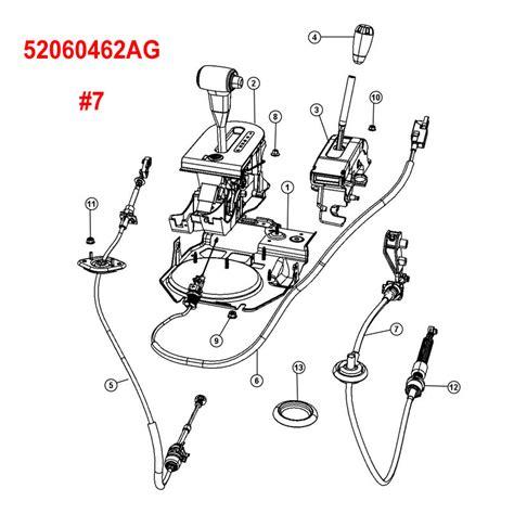 wrangler jk transfer case shift cable 52060462ag
