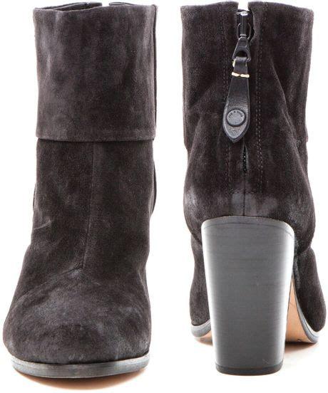 rag bone classic newbury boots harley suede in black