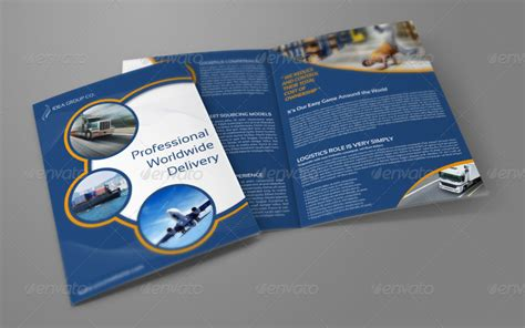 brochure template logistics logistics services bi fold brochure vol 4 by owpictures