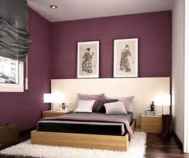 bedroom purple colour schemes modern design: comfortable modern bedroom decoration idea with pretty purple color