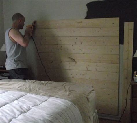 Diy Distressed Wood Headboard by How To Make A Reclaimed Wood Headboard With New Wood