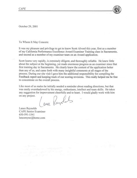 Reference Letter For tips for writing a letter of recommendation