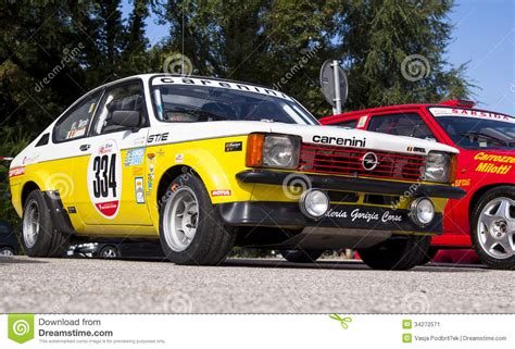 opel kadett rally car opel kadett gte editorial photo image of asphalt section