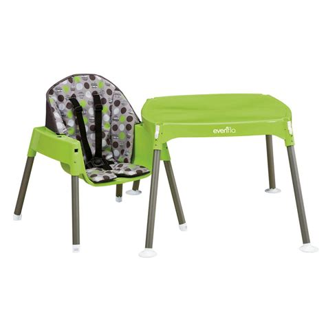 convertible high chair to table and chair amazon com evenflo convertible high chair dottie lime