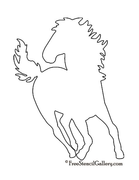 free printable horse shapes horse silhouette stencil free stencil gallery