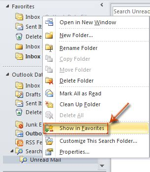 Office 365 Outlook Unread Mail Folder How To Add Unread Mails To Favorite Folder In Outlook