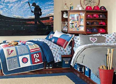 sports room bedroom decorating ideas for sportsmen creative bed