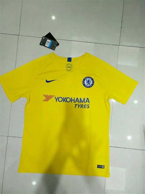 Chelsea Yellow by Chelsea 2018 19 Soccer Jerseys Chelsea Away Yellow