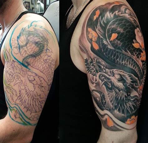 cover up tattoo dragon dragones pinterest up tattoos