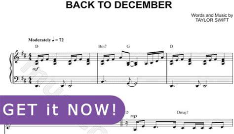 tutorial gitar back to desember taylor swift back to december sheet music