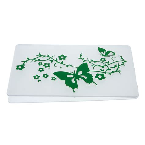 Green Craft Paper - green butterfly pattern plastic embossing folders for diy