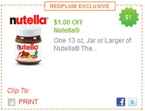 Nutella Printable Coupon printable coupons nutella spread cereal cap n
