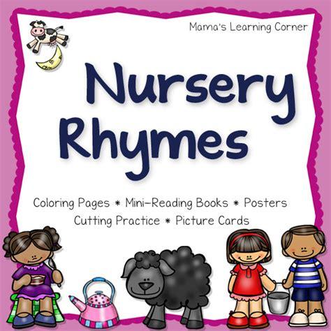 Free Printable Nursery Rhyme Posters Free Nursery Rhyme Printables Sler Packs Free Homeschool Deals