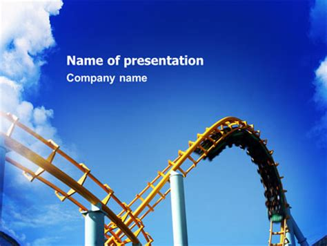 roller coaster template roller coaster presentation template for powerpoint and