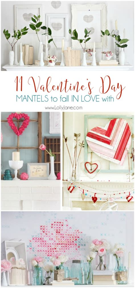 valentines day low cost ideas title and wm decorations easy valentines day mantel lolly jane