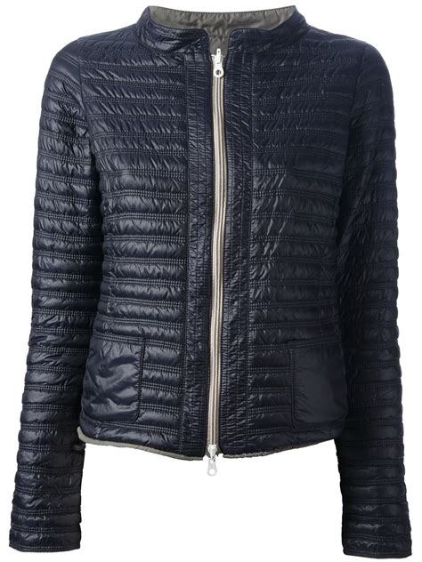 Reversible Quilted Jacket by Duvetica Reversible Quilted Jacket In Blue Lyst