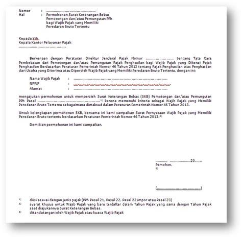 Cara Membuat Surat Kuasa Pengambilan Berkas by Belajar Pajak Cara Membuat Skb Surat Keterangan Bebas