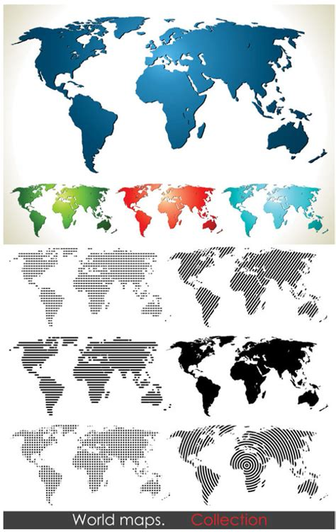 free world map vector world map outline vector free