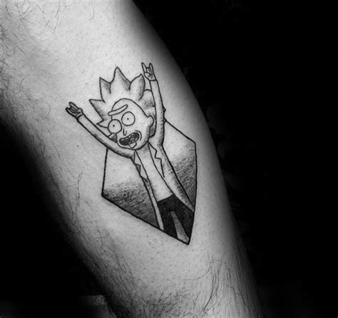small shaded tattoos 60 rick and morty designs for animated ink