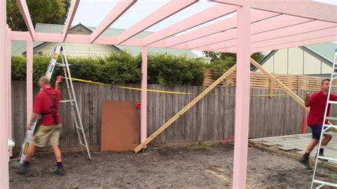 selbstbau carport how to install bracing for a carport diy at bunnings