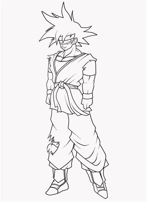 goku jr coloring pages adult goku jr lines by zerov5 on deviantart
