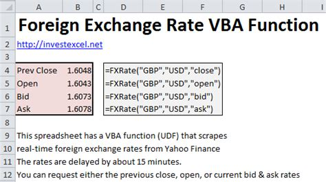 currency converter formula foreign exchange rate function in excel