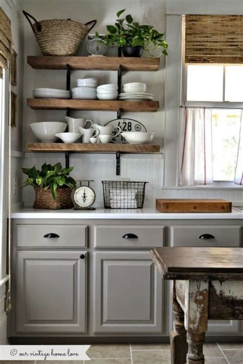 Open Shelf Kitchen Cabinet Ideas by 55 Open Kitchen Shelving Ideas With Closed Cabinets