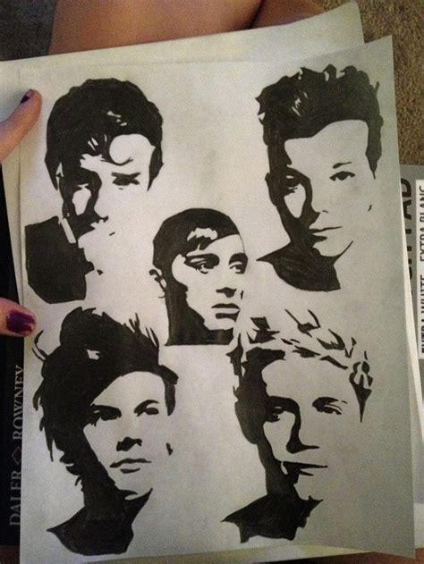 one direction painting 17 best images about one direction drawings on