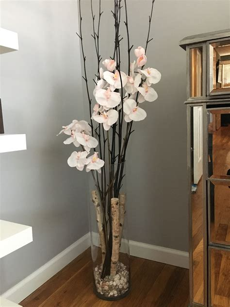 decorative vase vases flower vase flowers orchid white orchid flower floor vase crafty diy decor flowers