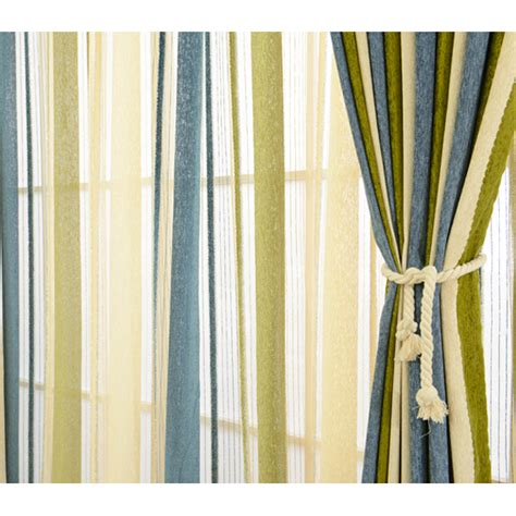 blue and green striped curtains modern chenille blackout blue olive green striped curtains
