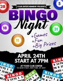 Customizable Design Templates For Bingo Night Template Postermywall Bingo Flyer Template Free