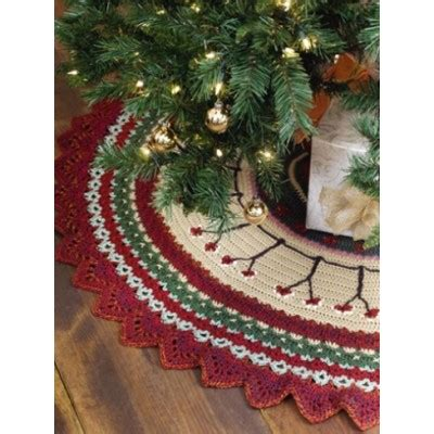 free crochet pattern for xmas tree skirt caron christmas tree skirt crochet pattern yarnspirations