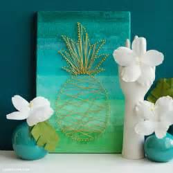 Diy tropical wall art bigdiyideas com