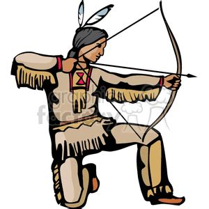 indians clipart bow and arrow pencil and in color