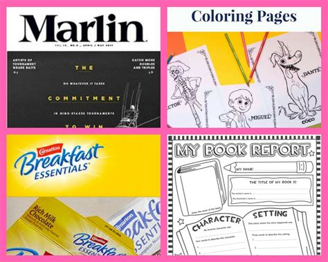 coloring book subscription four 4 freebies annual subscription to marlin magazine
