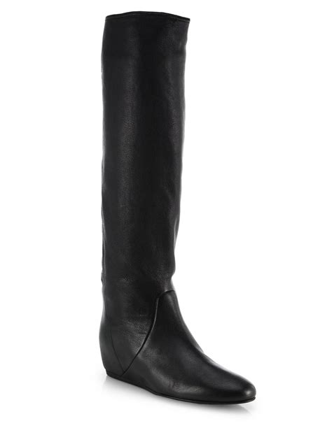 The Knee Wedge Boots wedge black knee high boots boot end