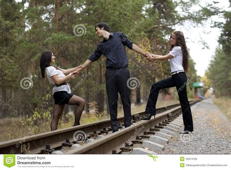 soap two girls and one boy two and one stock image image of rail 16974769