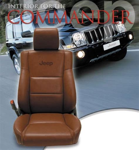 jeep seat upholstery kits jeep commander katzkin leather seat upholstery kit