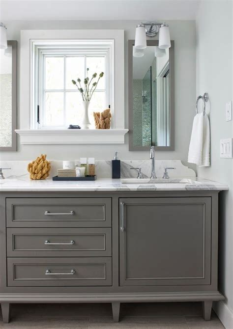 Grey Bathroom Cabinets Bathroom Cabinets Painted In Boothbay Gray From Benjamin Benjaminmoore Diy Decor