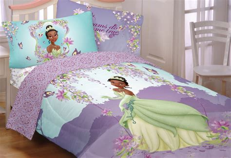 4pc disney princess frog sunset dreams twin bedding set