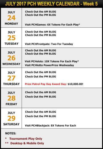 Does Pch Really Pay Out - your pch schedule new sweepstakes for july pch blog