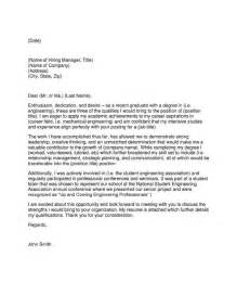 Recent College Grad Cover Letter by Recent Graduate Cover Letter Sles Jianbochen