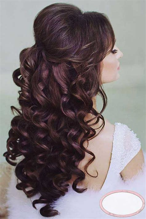 Half Up Curly Hairstyles by Pics For Gt Curly Hairstyles Half Up Half Back View